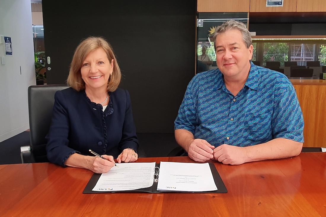 Professor Helen Bartlett and Rex Halverson
